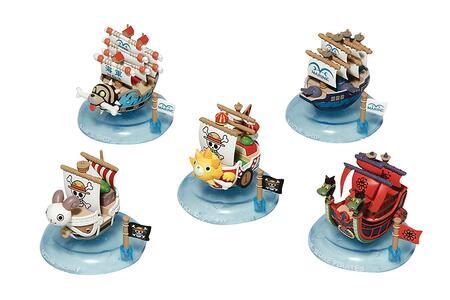 6 One Piece  Yurayura Pirate Ship Disp