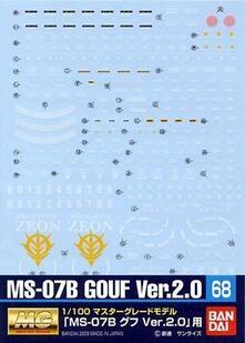 Gundam Decal 68 Mg Gouf 2.0