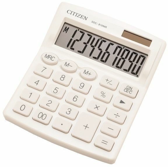 Image of Calcolatrice Citizen SDC-810NR Bianco