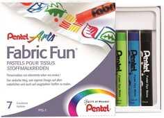 Cartoleria Pastelli per tessuto Pentel Fabric Fun. Confezione 7 colori assortiti Pentel