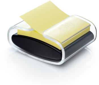 Cartoleria 3M Post-it. Dispenser Da Tavolo Ricaricabile Pro Colore Nero + Ricarica Di Foglietti 76x76mm Post-it