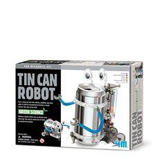 Giocattolo Robot conlattina riciclata 4M