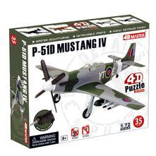 4D Master 1/72 P-51D Mustang IV RAF Model Kit Puzzle