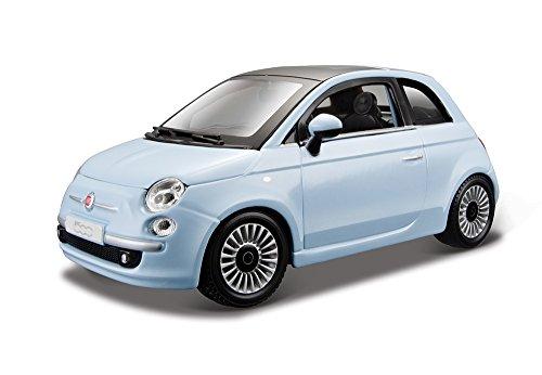 Image of Bburago. Fiat 500 2007 1:24 (Arancione / Rossa)