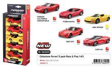 Ferrari Race & Play. Ferrari 1:43. 5 Pack