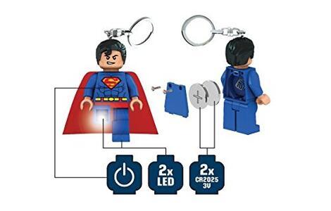 Portachiavi Torcia LEGO Superman - 5