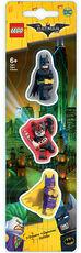 Cartoleria Set Gomme Da Cancellare Lego Batman. Batman/Batgirl/Harley Quinn Pyramid