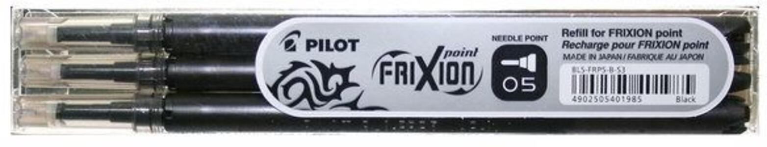 Penna a sfera cancellabile Pilot Frixion Point 0,5 nero punta 0,5 mm. Confezione 3 pezzi - 2