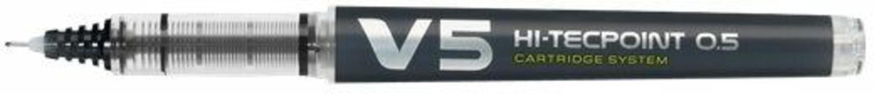 Penna roller Pilot V5 Refillable nero