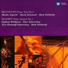Trio per pianoforte n.1 / Quartetto per pianoforte n.1 - CD Audio di Ludwig van Beethoven,Wolfgang Amadeus Mozart,Martha Argerich