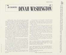In Tribute (Limited Edition) - SHM-CD di Dinah Washington
