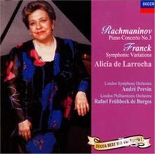 Concerto per pianoforte n.3 (Reissue) - CD Audio di Sergej Vasilevich Rachmaninov,Alicia de Larrocha,André Previn,London Symphony Orchestra