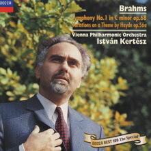 Sinfonia n.1 op.68 - Variazioni su tema di Haydn op.56a (Reissue) - CD Audio di Johannes Brahms,Istvan Kertesz,Wiener Philharmoniker