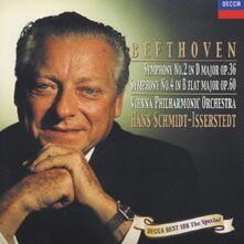 Sinfonie n.2, n.4 (Import - Reissue) - CD Audio di Ludwig van Beethoven,Hans Schmidt-Isserstedt