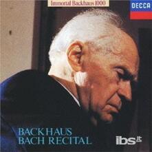Bach Recital (Limited Reissue) - CD Audio di Johann Sebastian Bach,Wilhelm Backhaus