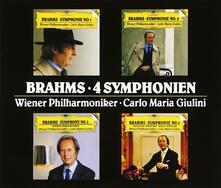 Sinfonie complete (Box Set - Import) - CD Audio di Johannes Brahms,Carlo Maria Giulini,Wiener Philharmoniker