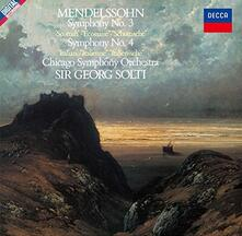 Sinfonia n.3 - Sinfonia n.4 (Remastered) - CD Audio di Felix Mendelssohn-Bartholdy,Georg Solti,Chicago Symphony Orchestra