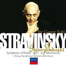 Sinfonia di salmi (Reissue) - CD Audio di Igor Stravinsky,Georg Solti,Chicago Symphony Orchestra,Chicago Symphony Chorus