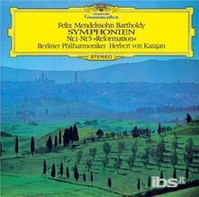 Mendelssohn. Symphony.. (Japanese Edition) - CD Audio di Herbert Von Karajan,Felix Mendelssohn-Bartholdy,Berliner Philharmoniker