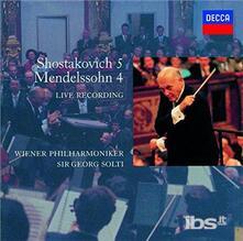 Mendelssohn. Symphony (Japanese Edition) - CD Audio di Felix Mendelssohn-Bartholdy,Georg Solti