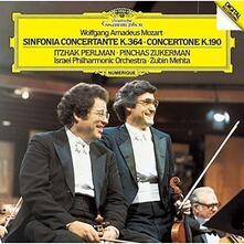 Sinfonia concertante K364 - Concertone K190 (Japanese SHM-CD) - SHM-CD di Wolfgang Amadeus Mozart,Itzhak Perlman,Zubin Mehta,Pinchas Zukerman,Israel Philharmonic Orchestra