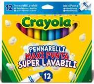 Giocattolo Crayola Pennarelli Maxi Punta Lav. 12pz Crayola