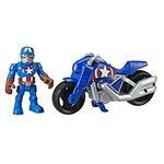 Super Hero Adventures  Mini Mighties 13 cm con Moto. Captain America