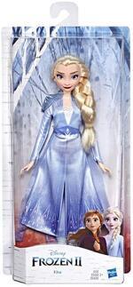 Frozen 2. Elsa (Fashion Doll con capelli lunghi e abito blu, ispirata al film Diensy Frozen 2)