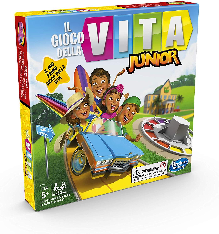 Image of Il Gioco della Vita. Junior (Gioco in scatola Hasbro Gaming, versione 2020 in italiano)