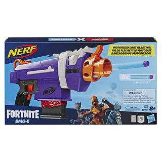 Giocattolo Nerf Fortnite. SMG-E (Blaster motorizzato con clip di 6 dardi, include 6 dardi ufficiali Nerf Elite) Hasbro