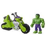 Super Hero Adventures  Mini Mighties 13 cm con Moto. Hulk