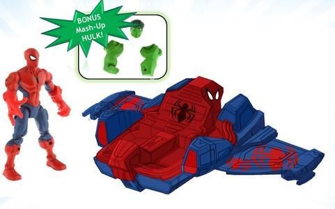 Avengers. Hero Mashers. Spider Smash Jet Hasbro - 4