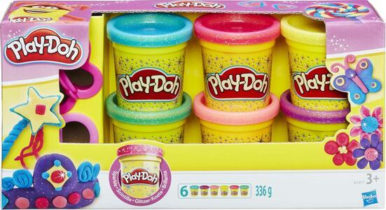 Play-Doh. Sparkle 6 Vasetti