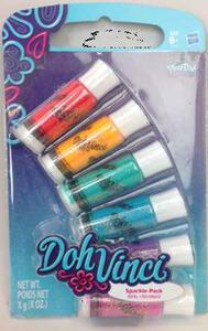 Doh Vinci. Ricarica Colori Sparkle 6 Tubetti - 3