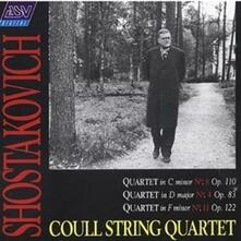 Quartetti per Archi Nos4 - 8 - 11 - CD Audio di Dmitri Shostakovich
