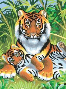 Painting By Numbers Junior, Tigri. 0029
