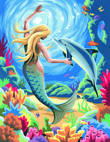 Painting By Numbers Junior. Mermaid