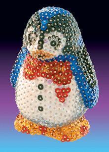 3D Sequin Art, Pinguino. 0503