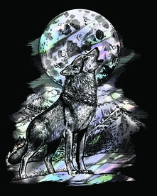 Artfoil Holographic. Wolf