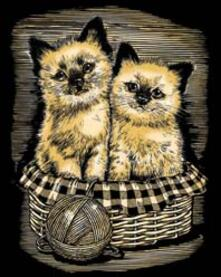 Artfoil Gold. Kittens