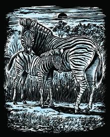 Artfoil Silver, Zebra E Cucciolo. 1018