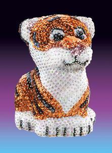 3D Sequin Art, Tigre. 1122