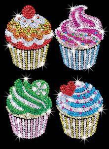 Sequin Art Blue, Cupcakes. 1130