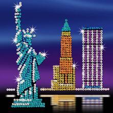 Sequin Art Style, New York Skyline. 1417