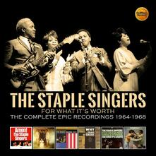 For What it's Worth. Comp Epic Recordings 1964-1968 (Box Set) - CD Audio di Staple Singers