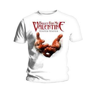 T-Shirt Bullet For My Valentine Men's Tee: Temper Temper Blood Hands