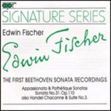 Sonate per pianoforte n.8, n.23, n.31 - CD Audio di Ludwig van Beethoven,Edwin Fischer