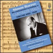 Dal Carnegie Hall vol.1 - CD Audio di Simon Barere