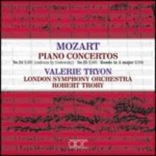 Concerti per pianoforte n.24, n.25 , n.24 (con cadenza di Hummel) - CD Audio di Wolfgang Amadeus Mozart,London Symphony Orchestra,Valerie Tryon,Robert Trory