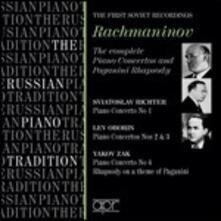 Concerti Completi per Pianoforte - CD Audio di Sergej Vasilevich Rachmaninov